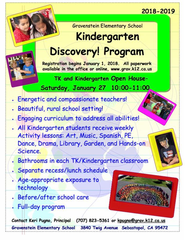Kindergarten Discovery Program Flyer